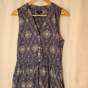 Gap Blue Bandana Print Sleeveless Shirtdress Small